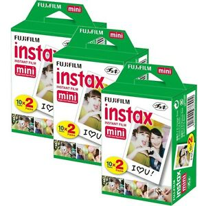 60 SHEETS Fujifilm Instax Instant Film For Fuji Mini 8-9 & Fujifilm Mini Cameras