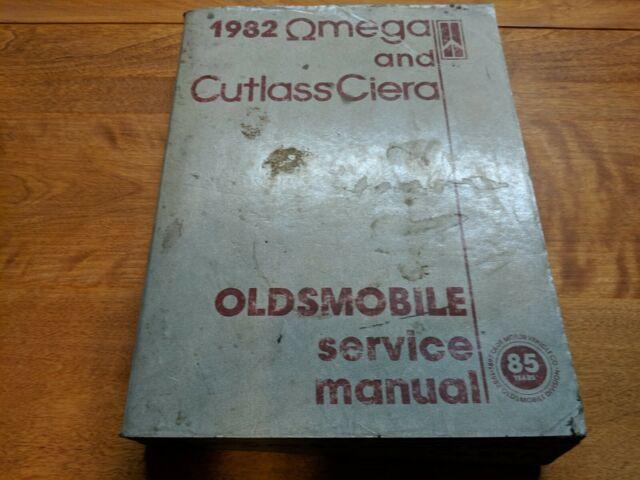 1982 Oldsmobile Omega And Cutlass Ciera Service Manual