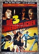 UNERBITTLICHEN DREI / MASTER SAMURAI * A1-Filmposter - Ger 1-Sheet  EASTERN 1976