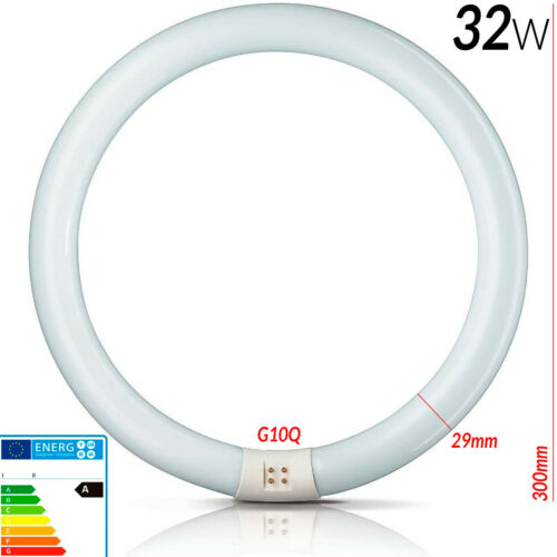 Bombilla Lampara Tubo Circular 22w 32w 40w Fluorescente T9 Ahorrativa BLANCA