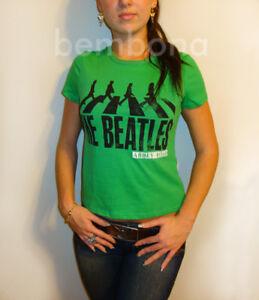 bfe970633 La foto se está cargando THE-BEATLES-Abbey-Road-para-mujer-Juniors-Camiseta-