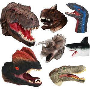 Realistic Shark Dinosaur Hand Puppet Soft Plastic Mouth ...
