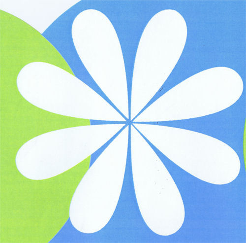 Girls Dot Daisy Double Die-Cut Wallpaper Border in Lime Blue /& White YH1578BD