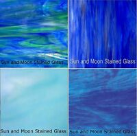 Blue Stained Glass Pack (4 Sheets Of 8x10) Stained Glass Sheets