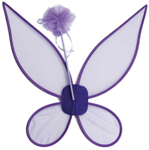 Fées-Set fée 2tlg Violet Clochette ailes feenstab Enfants Carnaval