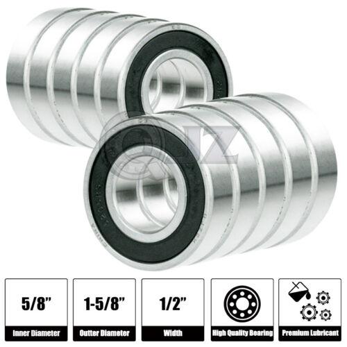 10x 1628-2RS Ball Bearing 15.875mm x 41.275mm x 12.7mm Rubber Seal Premium RS