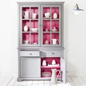 Image Is Loading Florence Glass Door Display Cabinet In Pink Amp