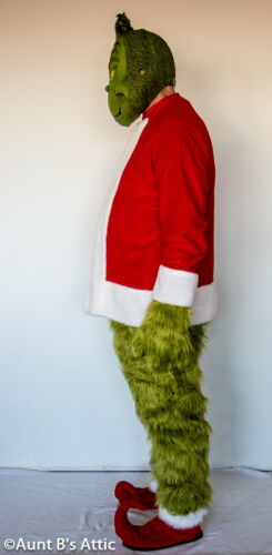 Grinch Costume /& Santa Suit Combo 12 Pc Total Handmade /& Commercial Made Costume