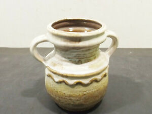 Beautiful-Vintage-Lava-Ceramics-Zweihenkelvase-416-15-Brown-Shades