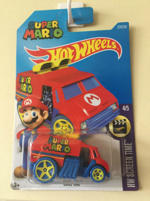 Hot Wheels 2016 Super Mario Cool-One Long Card