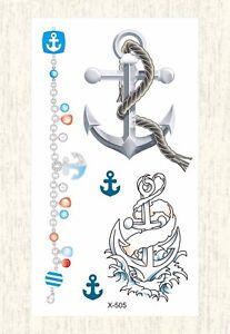50994da4b6982 Image is loading US-SELLER-nautical-anchor-temporary-tattoo-fake-tattoo-