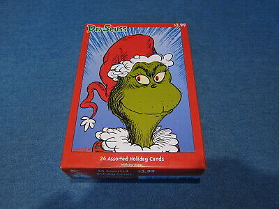 The Grinch Who Stole Christmas Cards 24 Cards Envelopes Dr. Seuss