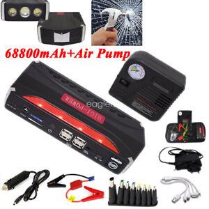 Coche-Jump-Starter-Arrancador-Arranque-Cargador-de-Bateria-Power-Bank-Aire-Bomba