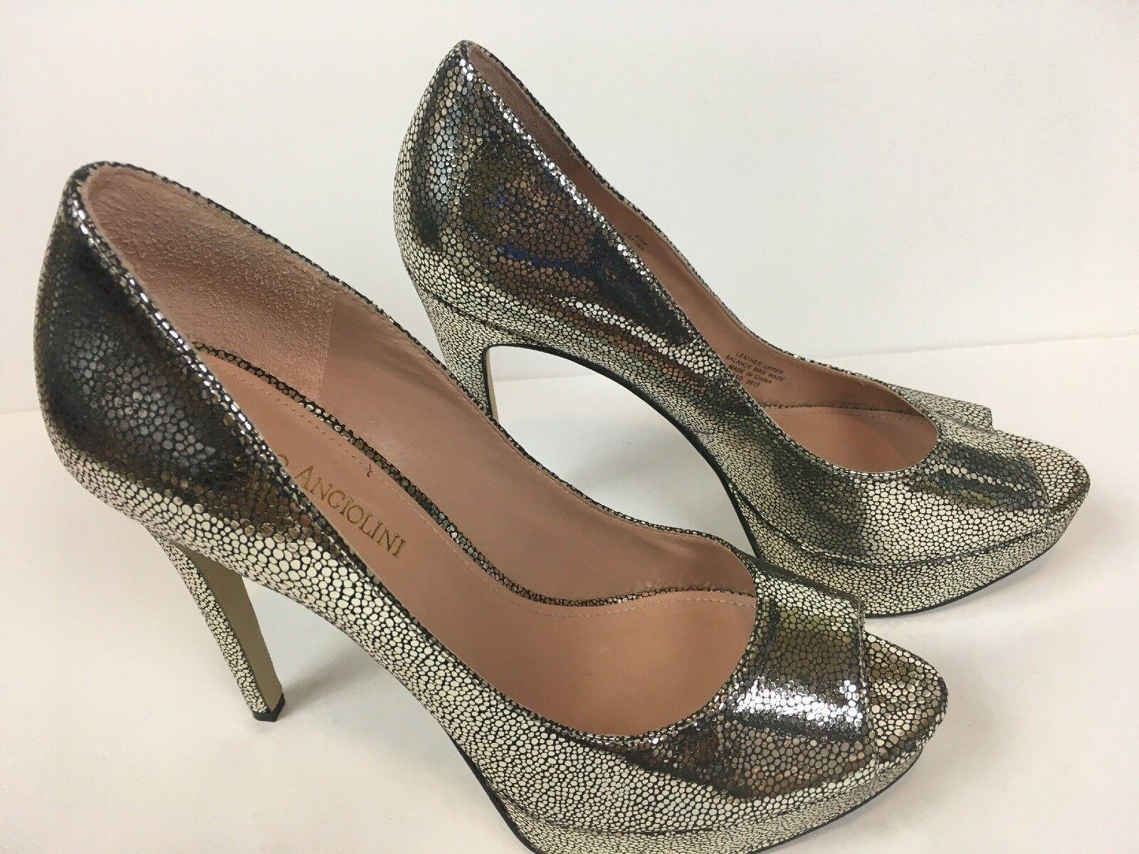 Prezzo al piano Enzo Angiolini donna Peep Toe Pumps Platform Heels Heels Heels scarpe Dimensione 8.5  vendita con alto sconto