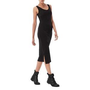 G-Star-RAW-Black-Us-Gerde-Straight-Bodycon-Tank-Midi-Casual-Dress-Size-UK-10-35