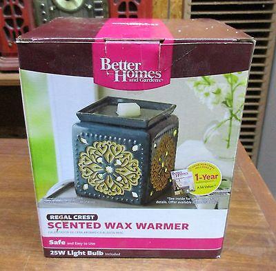 Better Homes & Gardens Regal Crest Scented Wax Warmer Unused in Original Box