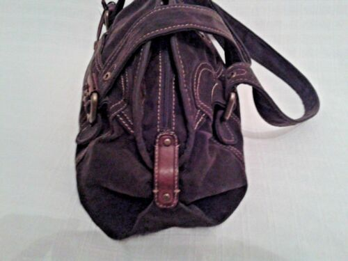 Lady's Fossil With Detail Handbag Stitching And BronzeLeather Tan Colour Brown dChQBrtoxs