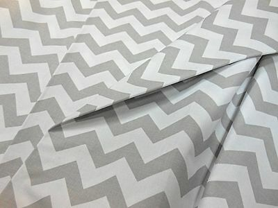 Curtain Fabric Chevron Zig Zag 100% Cotton Fabric Material  By The Metre