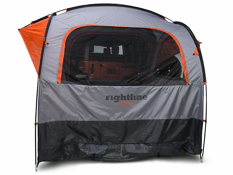 RIGHTLINE GEAR SUV Jeep Minivan 4 4 4 Person Tent W  Waterproof Cap & Screens 110907 348ae8