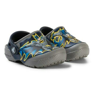 Crocs Toddler Caped Crusader Batman Clog Blue//Yellow Size:4//5 14R4 tz NEW