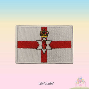 Northern-Ireland-National-Flag-Embroidered-Iron-On-Patch-Sew-On-Badge-Applique
