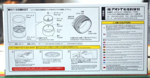 Reifen JDM 1:24 # 86 Aoshima 055281 Wedssport Kränze Borphes 19 Zoll Felgen