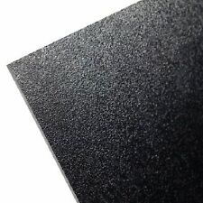 """(2 pcs) ABS Black Plastic Sheet 1/4"""" x 12"""" x 12""""  (.250"""") Haircell 1 side 6mm *"""