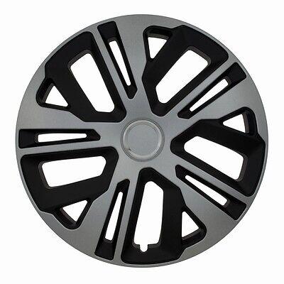 """4x tapacubos radzierblenden para 14/"""" pulgadas llantas de acero negro para VW Peugeot"""
