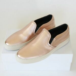 WOMAN-by-COMMON-PROJECTS-metallic-copper-shoes-low-top-slip-on-sneakers-40-NEW