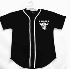 Raiders Custom Name Baseball Style Jersey  S M L XL