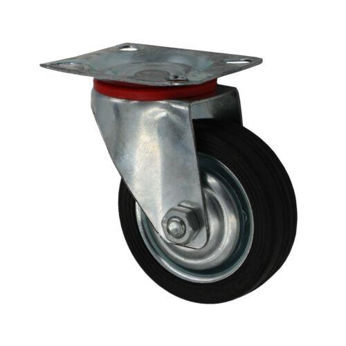 Set 75 Mm 2x roues fixes avec totalstop 2x roues fixes En Caoutchouc Transport Roulettes