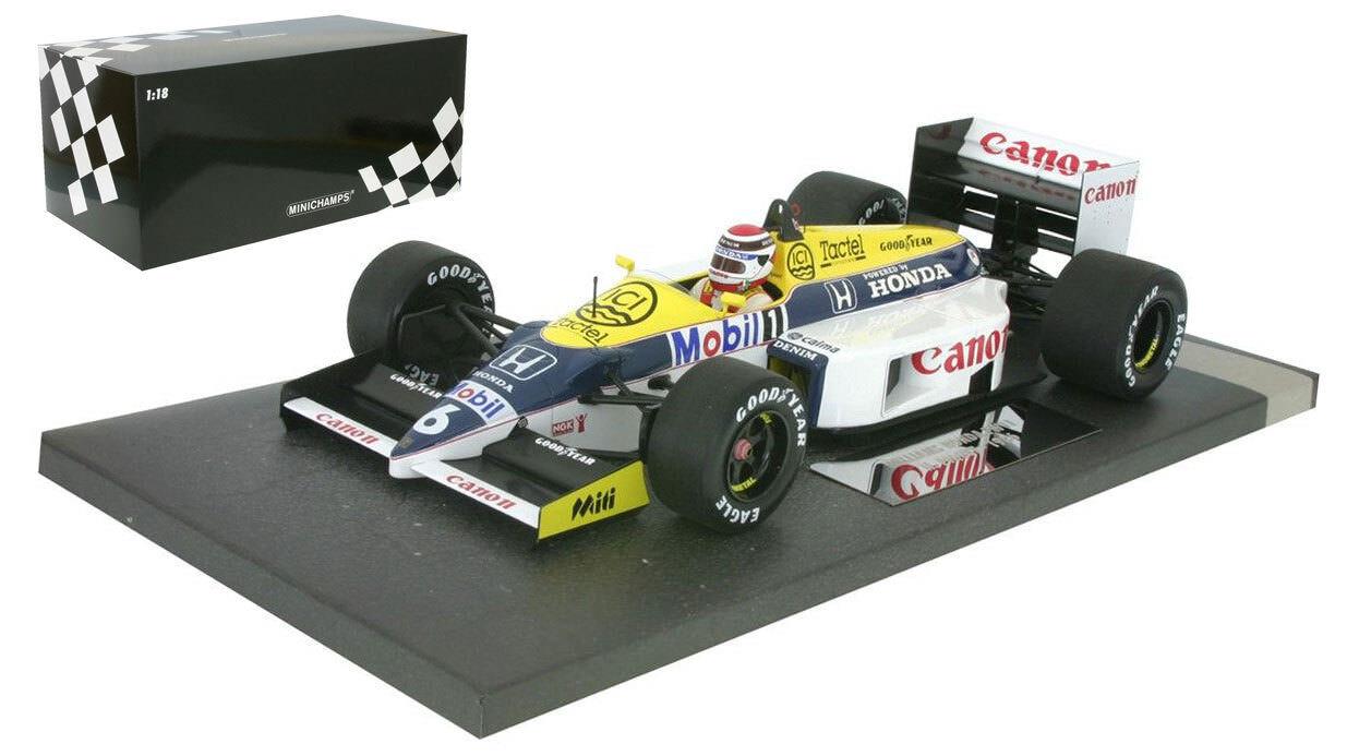 Minichamps Williams FW11  6 1986-Nelson Piquet échelle 1 18