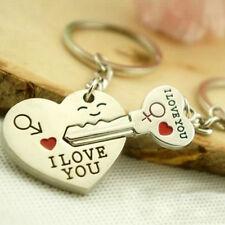 2016 Romantic Creative Birthday Gift I LOVE YOU Heart Arrow Couple Keychain Set