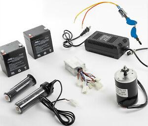 150W-Electric-Motor-kit-w-Control-Box-Twist-Throttle-Key-Lock-Charger-Batteries