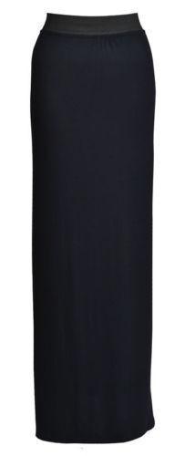New Ladies Womens Gypsy Long Jersey Maxi Dress Ladies Skirt Size 8-26 JrsySkirt