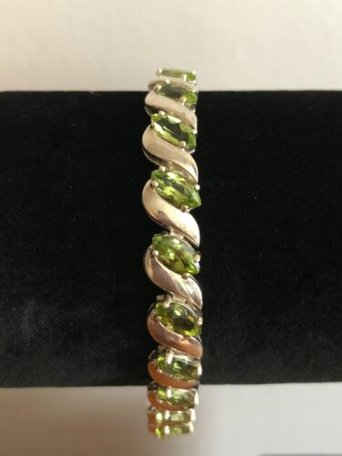 Anniversary Gift S Details about  /925 STERLING Silver PERIDOT /& Other Stones Band Size J