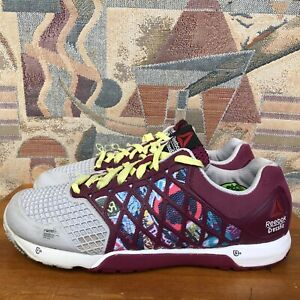 Reebok-CrossFit-Nano-4-0-CF74-Training-Shoes-Purple-Graffiti-M47338-Women-039-s-7