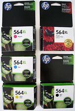 5-PACK HP GENUINE 564XL Black & Color Ink  Photosmart 7520 C6380 C6350 EXP 2018
