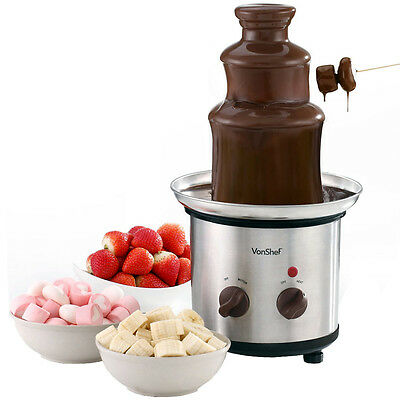 VonShef Luxury Premium Chocolate Fountain and Chocolate Warmer Fondue