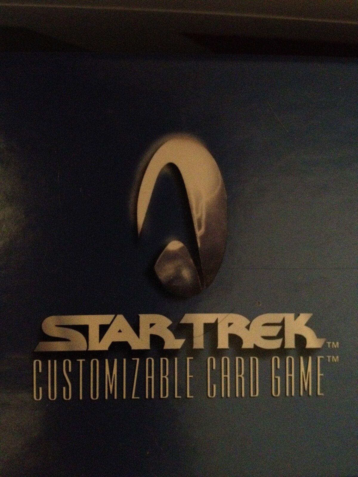 Star Trek CCG 1E Negro estreno limitada conjunto confinada Nr-conjunto de menta 363 Tarjetas