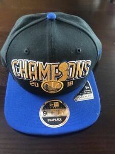 competitive price 05db1 5e6d7 Image is loading Golden-State-Warriors-New-Era-2018-NBA-CHAMPIONS-