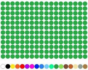 3600-Klebepunkte-5mm-Kreise-Gruen-Punkt-selbstklebend-Aufkleber-Inventur-Folie