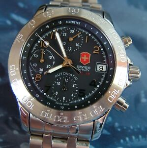 207369274bc SUPER RaRe SWISS ARMY F A-18 AIR FORCE CHRONOGRAPH AUTOMATIC 7750 ...