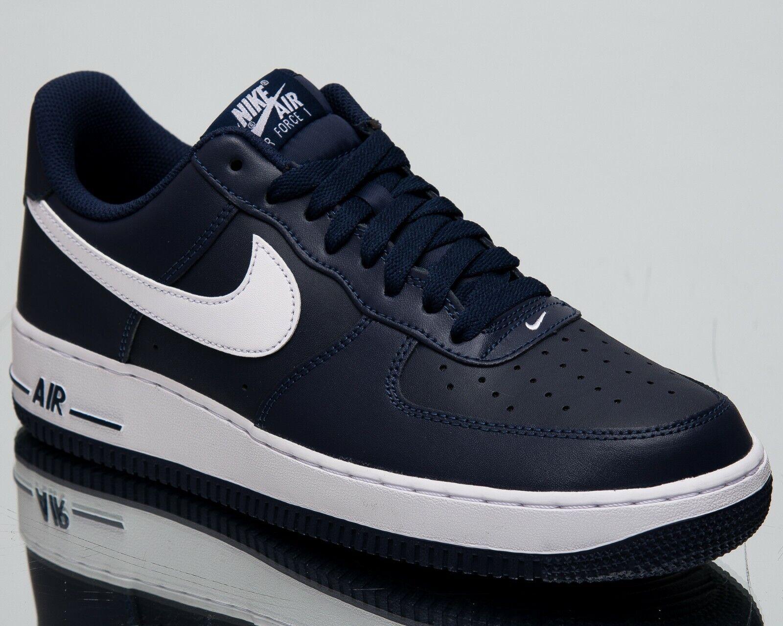 Nike Air Force 1 Low New Uomo Lifestyle scarpe scarpe scarpe Midnight Navy bianca 488298-436 33d05a
