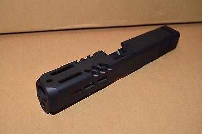 CUSTOM MACHINED SLIDE | STAINLESS STEEL BLACK CERAKOTE - FOR GLOCK 19 GEN  1,2,3 | eBay