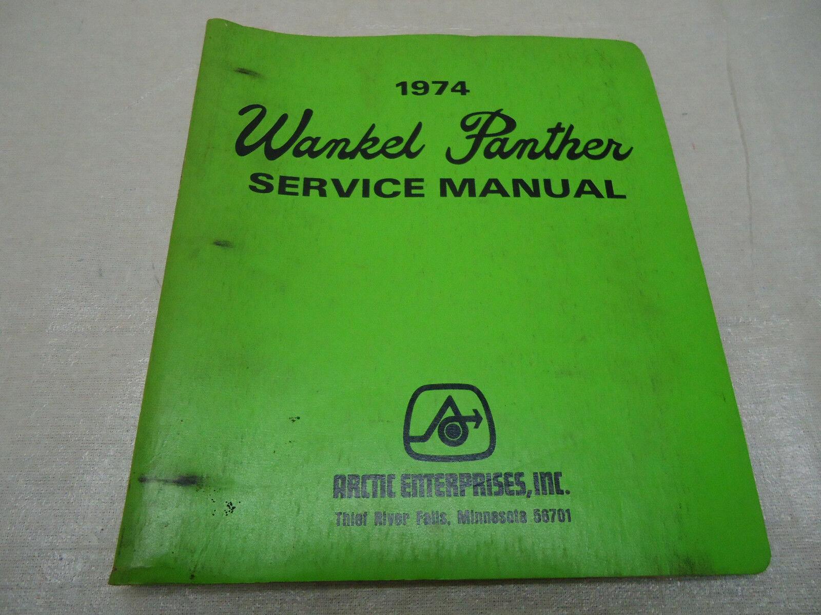 Vintage 1974 Wankel Panther service Manual OEM 0153  030  just for you