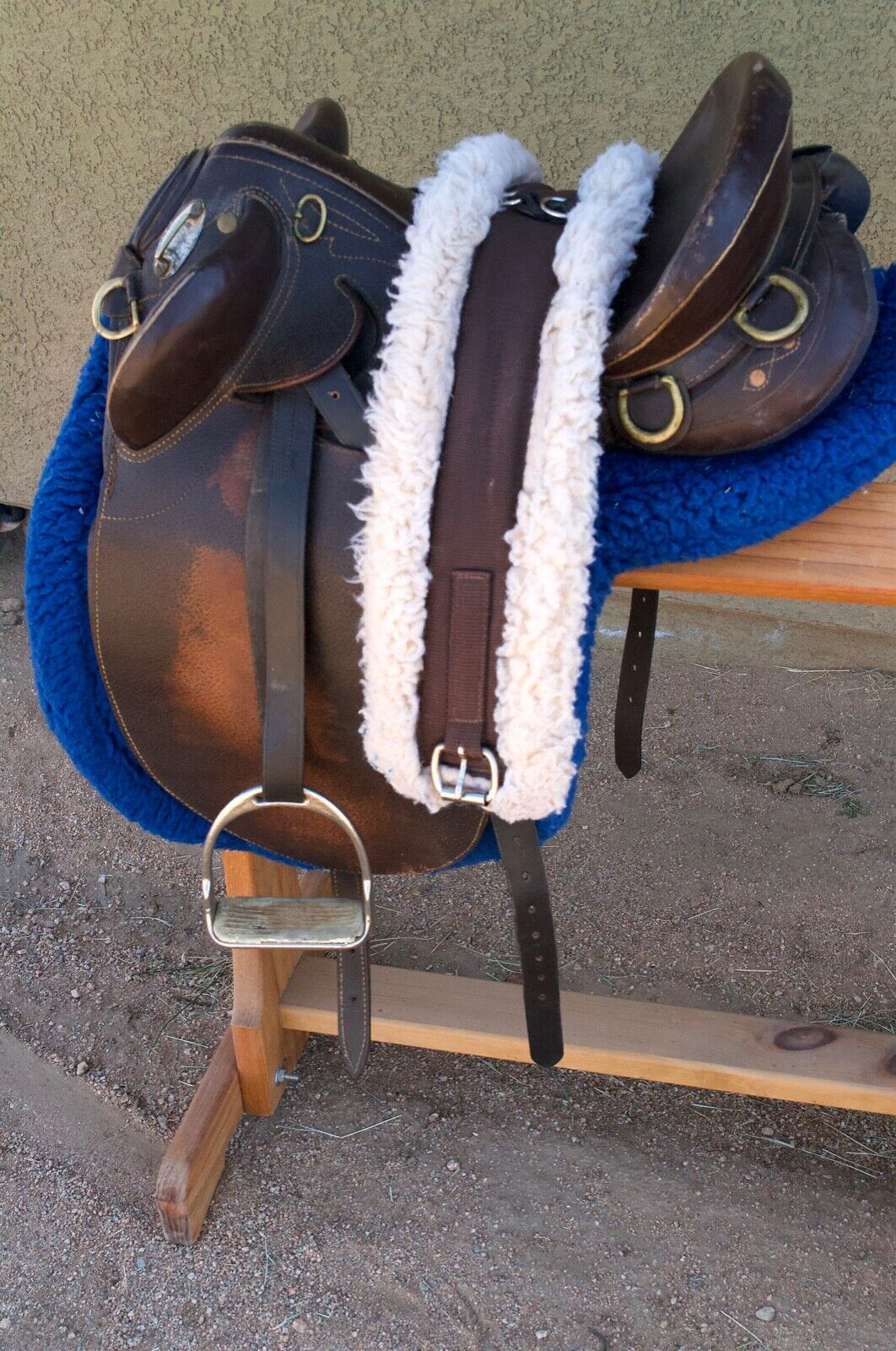 Australian Outrider 14  Saddle with Leathers, Stirrups, and Girth Pad