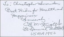 "CLARENCE E. ""MAC"" MCKNIGHT - AUTOGRAPH NOTE SIGNED"