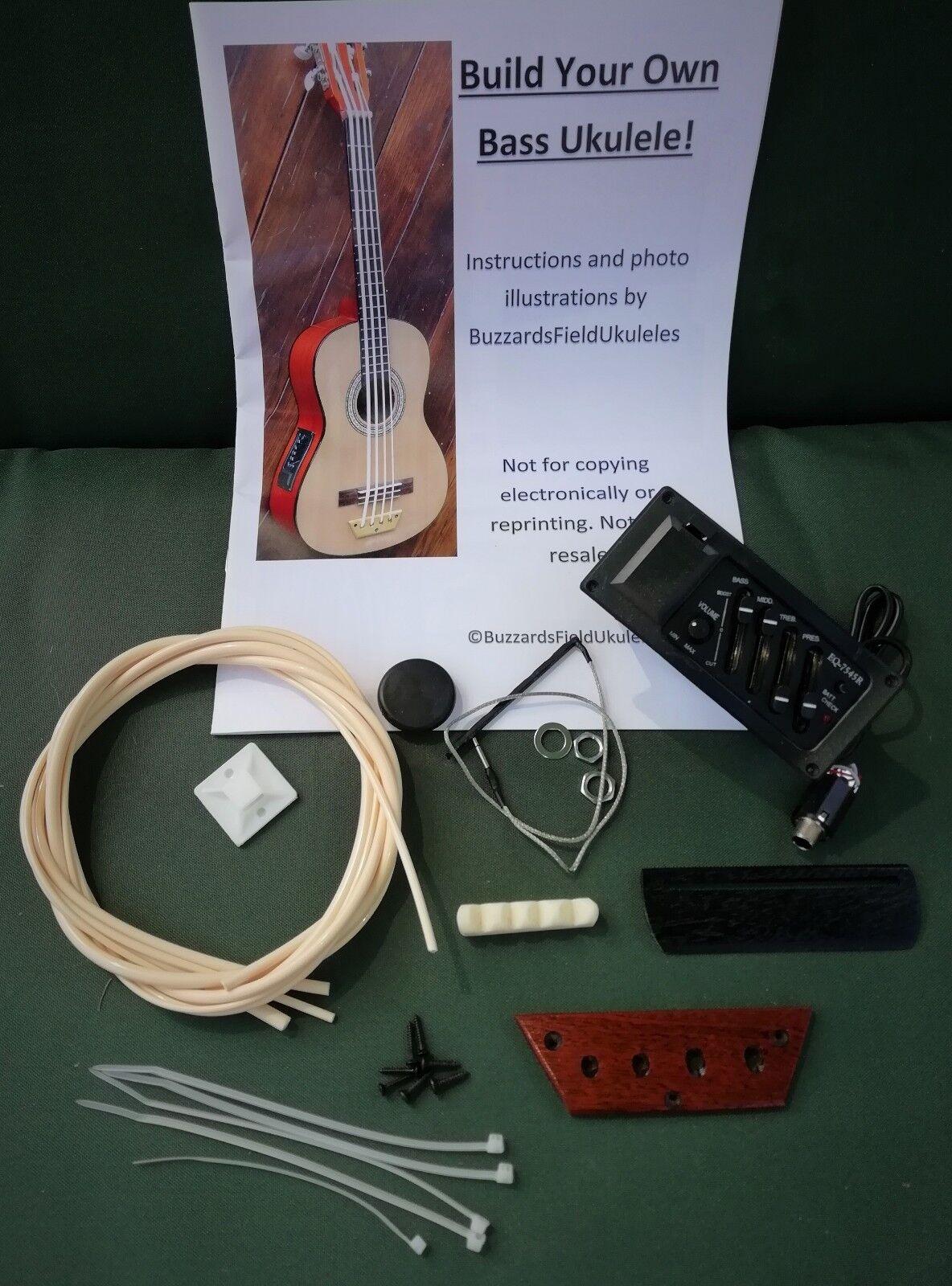 DIY bass ukulele kit - build your own electro acoustic U-bass. Std Plus Kit.
