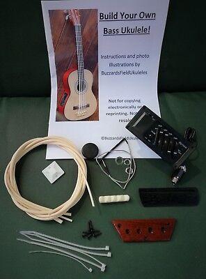 diy bass ukulele kit build your own electro acoustic u bass std plus kit ebay. Black Bedroom Furniture Sets. Home Design Ideas